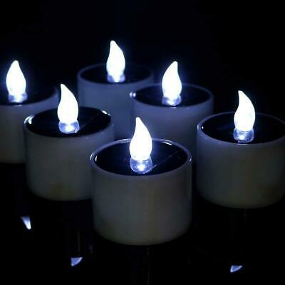 £10.99 • Buy 6/12X Solar Powered LED Candles Flameless Electronic Waterproof Tea Lights Lamp