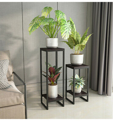 £29.99 • Buy Potted Plant Stand Tall Flower Pot Display Shelf For Balcony Living Room Garden