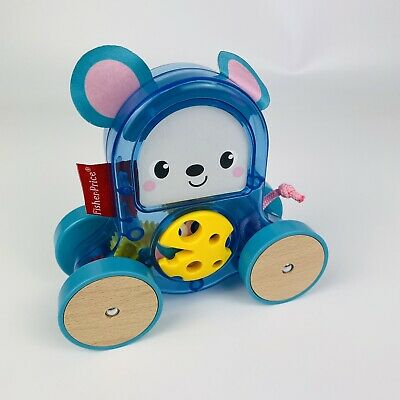 Fisher-Price Rollin' Surprise Mouse Push-Along Toy Vehicle For Baby Play Games • 9.99£