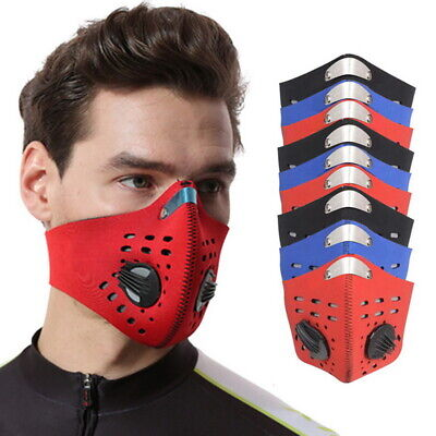 UK Face Mask Washable Reusable Anti Pollution PM2.5 Two Air Vent With Filter  • 4.89£