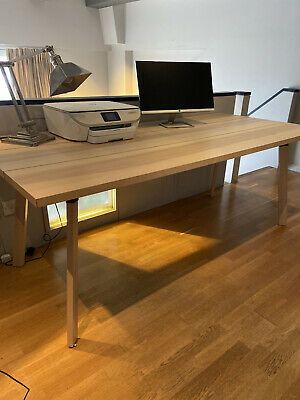 IKEA YPPERLIG Large Solid Birch Desk Or Dining Table 2m Long • 30£