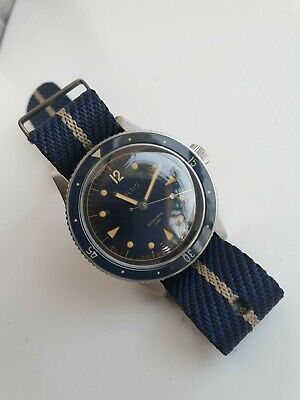 20mm Navy & Gold Premium Woven Microbrand Nato Watch Strap  • 4£