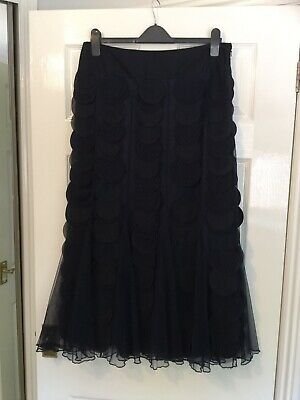 Ladies Stunning Per Una Floaty Material Circles & Net Skirt Size 14r • 12.99£