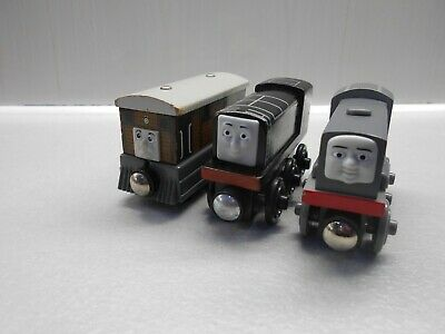 Wooden Thomas The Tank Engine Trains Toby Dennis And Diesel • 15.99£