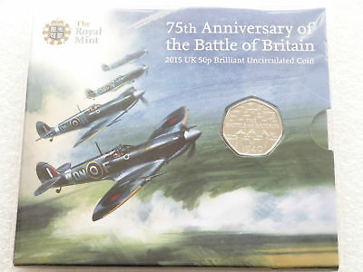 2015 Royal Mint Battle Of Britain 50p Fifty Pence Coin Pack Sealed Uncirculated • 10.50£