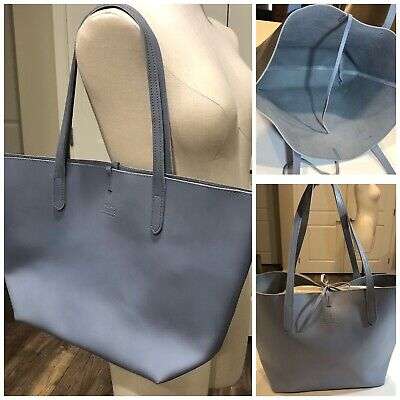 $ CDN157.32 • Buy J.W. Hulme Co. Open Leather Tote Blue Tie Closure Preowned- Good Condition JW
