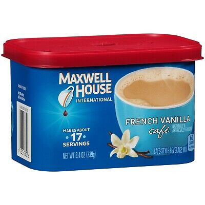 £8.54 • Buy Maxwell House International French Vanilla Cafe Instant Coffee World Wide Ship
