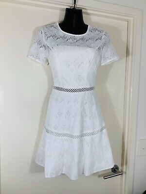AU15 • Buy Gorgeous FOREVER NEW Fire Fit And Flare Cotton Boho Dress Size 8