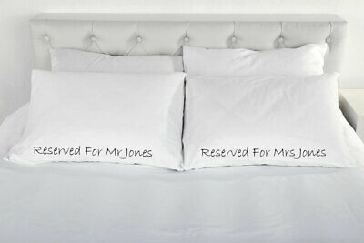 Personalised Reserved For Pair Of Pillow Cases Gift Wedding Present Engagement C • 19.99£