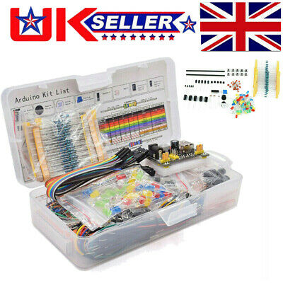 £13.79 • Buy Electronic Component Starter Kit Wires Breadboard Led Buzzer Resistor Transistor