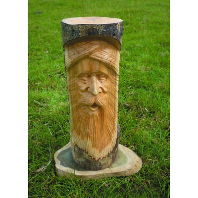 £35.50 • Buy My Family House Green Man Pot Stand Statue - Wood - Hand Carved