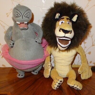 From Madagascar Alex The Lion Gloria The Hippo 2 Large Soft Toys Read All Pls • 16.99£