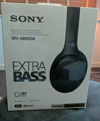 Sony EXTRA BASS WH-XB900N Wireless Noise-Cancelling Headphones - NEW & SEALED!!! • 53£