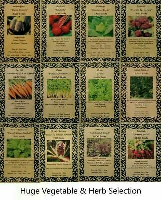 £1.89 • Buy Huge Choice Of Fresh High Quality Vegetable & Herbs Seeds Free Uk Delivery