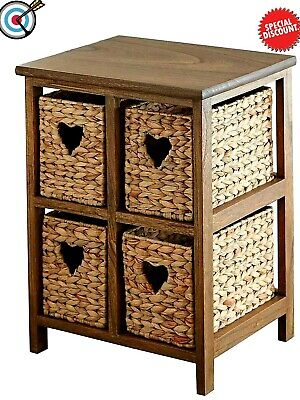 Basket Storage Unit,Wicker Drawers,Hallway,Ktichen,Bathroom Storage- Assembled  • 103.99£