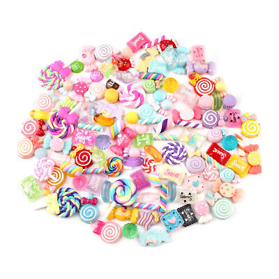 AU14.35 • Buy 30pcs DIY Scrapbooking Slime Beads Accessories Candy Flatbacks Crafts Colorful!!