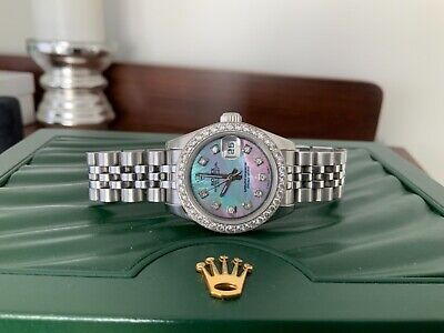 $ CDN7503.65 • Buy Rolex 179160 Datejust Mother Of Pearl Diamond Dial And Bezel Ladies Watch