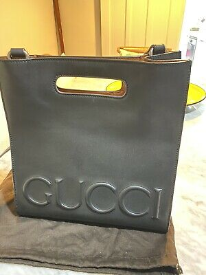 AU305 • Buy Linea Gucci XL Leather Tote Bag