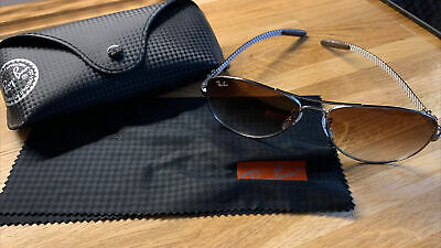 AU117.38 • Buy Rayban Sunglasses RB8301 Gunmetal / Crystal Brown Gradient With Protective Case