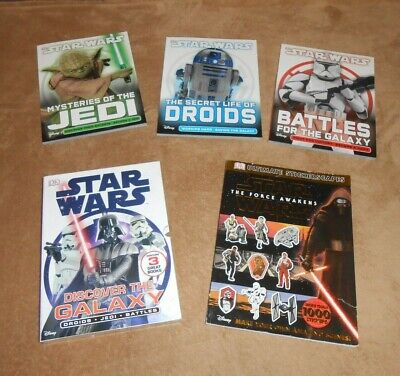 Childrens Books Star Wars 3 Books And Slip Cover Non Fiction And Sticker Book • 3£