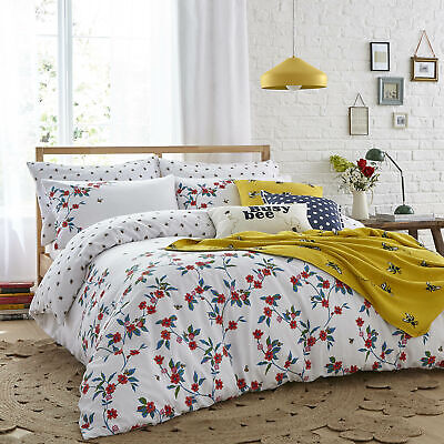 £60 • Buy Cath Kidston, Greenwich Flowers, 100% Cotton Duvet Cover Set, Busy Honey Bees