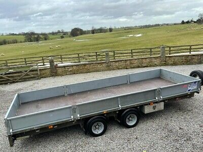 Ifor Williams Twin Axle 18ft Trailer With Drop Down Sides • 4,500£