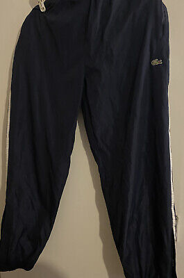 """Lacoste Pants Tracksuit Bottoms L/XL 32-34"""" 33 Leg New With Out Tags Blue/white • 14.99£"""