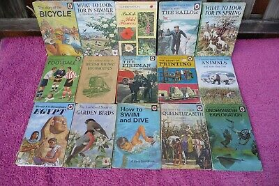 15 Vintage Ladybird Books , Different Series , Poor Condition. • 0.99£
