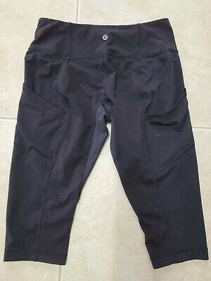 $ CDN25.30 • Buy Lululemon Black Workout Leggings Capris, Wmns Sz 10 [B34]