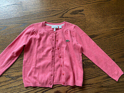 Lacoste Girl's Cardigan Pink Sz 6 NWOT ~ BEAUTIFUL ~  • 14.46£