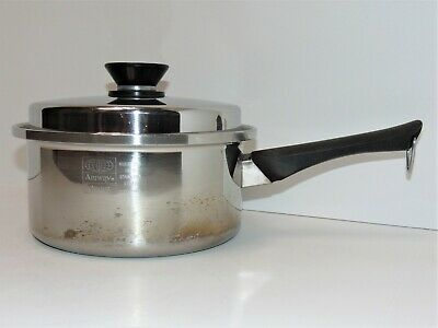 $ CDN44.21 • Buy Amway Queen 18/8 Stainless Steel 3 Quart SaucePan With Lid Made In USA