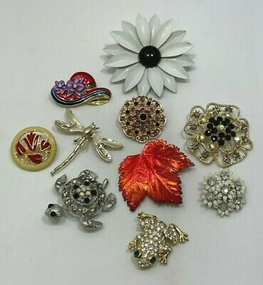$ CDN22.09 • Buy Lot Vintage To Now Estate Costume Jewelry Flower Figural Brooches