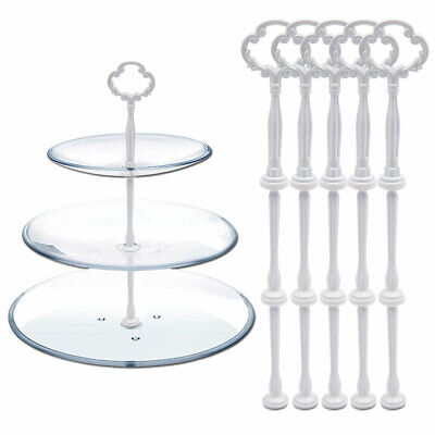 £8.49 • Buy 5 Floral Cake Stand Holding Fittings Table Cupcake Muffin Plate Rods Handle Rod