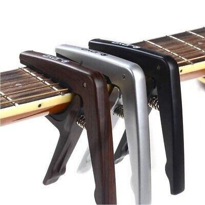 $ CDN20.29 • Buy Colorful Plastic Guitar Capo For 6 String Electric Black Silver Wood Color