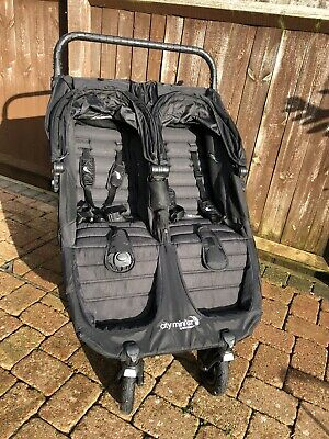 Baby Jogger City Mini GT Double Stroller - Black + Rain Cover. • 269£