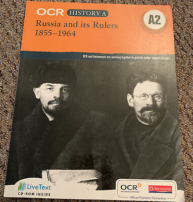 OCR A Level History A: Russia And Its Rulers 1855-1964, Very Good Condition Book • 2.30£