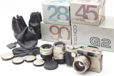 $ CDN2911.10 • Buy [N MINT In Box ] Contax G2 35mm Film Camera + 45mm 28mm 90mm Lens From JAPAN