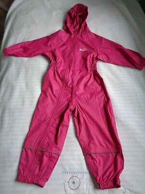 Peter Storm Girls Waterproof Pink Puddle Suit, 2-3 Years • 4.50£