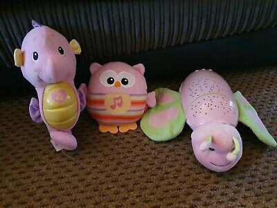 Baby Toddler Night Lights Songs Tunes Music Soft Toys Fisher Price Seahorse • 6£
