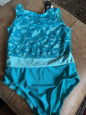Brand New With Labels Teal Lace Dance  / Ballet Leotard Age 5-6 Years • 5£