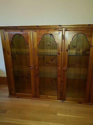 £79 • Buy Ducal Victoria Pine Glazed Display Cabinet/bookcase