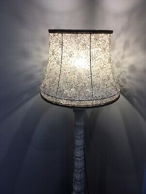 Large And Beautiful Lace, Standard Lamp Shade, From Vintage Shade Frame. • 20£