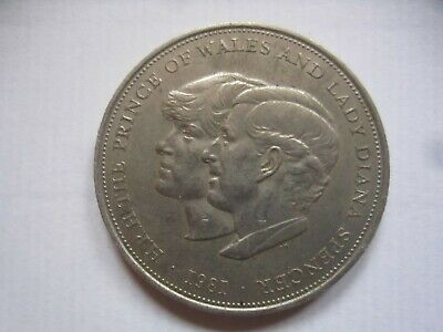 1981 Commemorative Coin - H R H The Prince Wales & Lady Diana Spencer • 0.99£