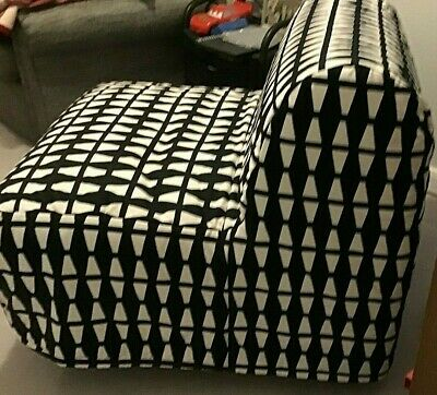 IKEA LYCKSELE HAVET Chair Bed Ebbarp Black & White PERFECT COND. Used Once • 140£