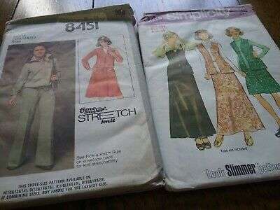 Dress Making Patterns 2 X Ladies Size 18 + • 4£
