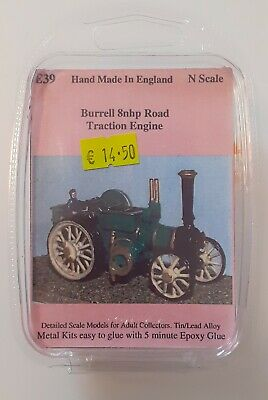 BURRELL ROAD TRACTION ENGINE  Langley Models Kit E39. N Gauge 1/148 Scale. New. • 9.99£