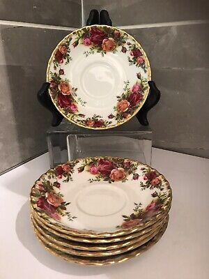 Lovely Set Of 6 Royal Albert  Old Country Roses  Bone China Tea Cup Saucers • 20£