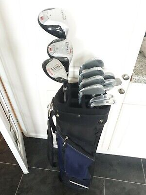 AU144.47 • Buy Full Set Of Mens Chicago Sgs Golf Clubs, Right Handed, Woods, Irons, Putter, Bag