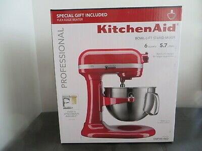 $ CDN538.88 • Buy KitchenAid Professional Series 6 Quart Lift Stand Mixer/5 Attachments Empire Red