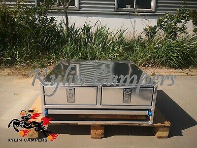 AU700 • Buy Ute Canopy Double Drawer / Bench 800x800x310mm Aluminium Canopy Drawer Insert